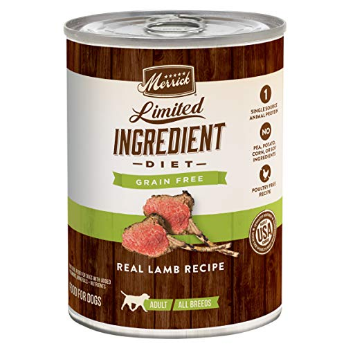 Merrick Limited Ingredient Diet Real Lamb Recipe Dog Food, 12.7 oz., Case of 12