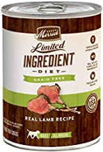 Merrick Limited Ingredient Diet Grain Free Wet Dog Food Real Lamb Recipe - (12) 12.7 oz Cans