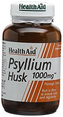 HealthAid Psyllium Husk, Fibre, 60 Vegan Capsules (Equivalent 2 x 500 mg Capsules) from HealthAid