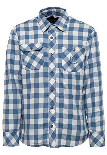 King Kerosin Ride Forever Camisa, Acero Azul, XL para Hombre