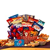 Movie Lovers Ultimate Movie Night Gift with Dominos Pizza gift card and movie snacks for a fantastic movie night gift