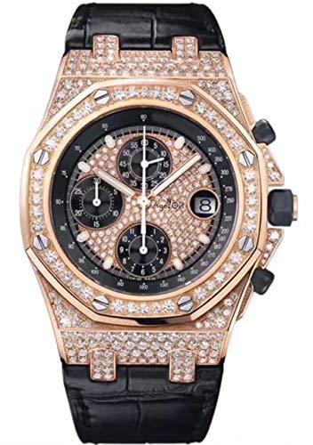 HHBB Marca de lujo Hombres Relojes Cronógrafo Zafiro Acero Inoxidable Amarillo Oro Rosa Plata Luminoso Negro Full Diamonds Aaa+ Oro 1