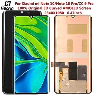 شاشات LCD للهاتف المحمول - شاشة Amoled لـ Xiaomi mi Note 10 Pro LCD شاشة لمس ثلاثية الأبعاد منحنية مجموعة محول رقمي أصلي ل...