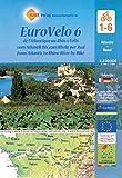 EuroVelo 6 (Atlantic - Basel) 1:100 000: Cycle Map Set (6 Maps) 1:100 000 / de l'Atlantique au Rhin à Vélo / vom Atlantik bis zum Rhein per Rad / from ... Rhine River by Bike (Michelin Cycling Maps)