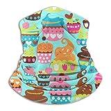 Etryrt Süße Leckereien Cupcake-Kompression, Winter-Fleece, Nackenwärmer, weich, elastisch, nahtlos, Stirnband für den Außenbereich