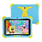 Kids Tablet 8 Inch, Tokecy Android 11 Tablet for Kids, IWAWA Parental Control, IPS HD Display, 2GB+16GB, Quad-Core, WiFi, Bluetooth, Dual Camera, Educational, Games, Learning for Boys Girls (Blue)