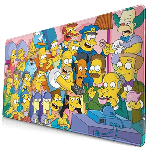 Gaming Mauspad Schreibtischunterlage Anti Rutsch Matte Multifunktionales Office Mousepad Simpsons Multifunktionales Office Mousepad 40 * 75 cm