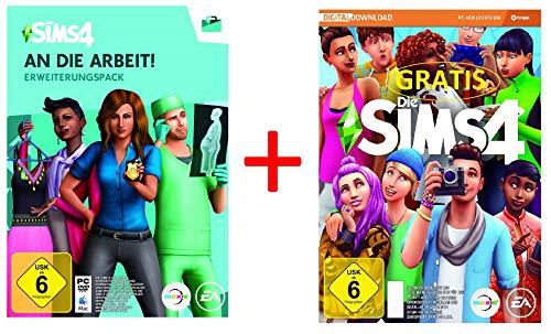 Die Sims 4 - An die Arbeit (EP 1) [PC Code - Origin] PLUS Die Sims 4 Basisspiel GRATIS Geschenk-Bundle