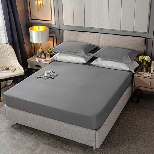 BOLO - Lenzuolo matrimoniale con angoli elasticizzati, in morbido rasatello di cotone, con elastico sul materasso per letto matrimoniale, 180 x 200 cm + 28 cm