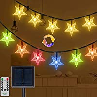 25Ft 50-LED Multi-Color Solar Fairy String Lights with Remote