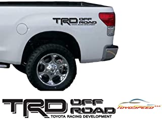 TOYOSPEED LLC TRD Off Road Decals FIT for Toyota Tacoma Tundra Truck Sticker Set 1 Pair Black Matte