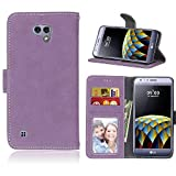 BONROY LG X Cam K580 Case, Premium PU Leather Wallet Case