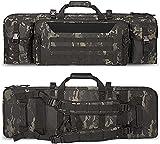 Bolsa Arma Larga, Rifle Airsoft Bolsa TáCtica Funda para Arma , Acolchado con Correa De Hombro Bolsa De Transporte Vaina para Caza Disparando (Color : Black Camouflage)