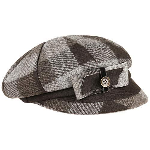 Lierys Lorena Newsboy Pet Dames - Made in Italy visor muts wintercap met klep voering voor Herfst/Winter