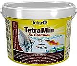 Tetra TetraMin XL Granules - Alimento para peces en forma de gránulos finos para peces ornamentales de agua dulce más grandes, 10 L