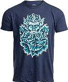 Poseidon | Greek God of Sea Ocean Spiritual Mythology Art Illustration for Men Women T-Shirt-(Navy,L)