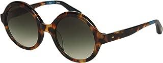 Toms 10014804 Womens Harlow Blonde Tortoise Frame Olive Green Lens Round Sunglasses