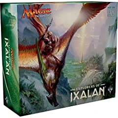 Explorers of Ixalan is a complete, out-of-the-box multiplayer Magic experience in which players search for the lost city Contains 4 x 60 card preconstructed decks and much more! Players will explore the verdant jungle of Ixalan in search of the Golde...