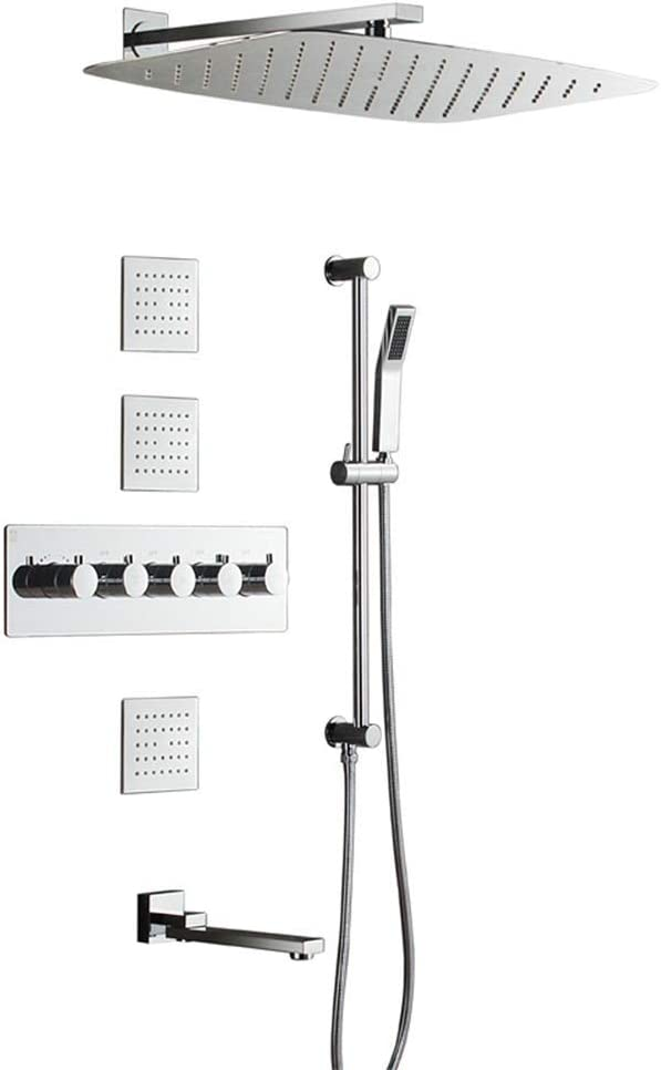JF-XUAN Shower Rapid rise Bath Set Lifting Showe 35% OFF Thermostatic Rod Wall Into