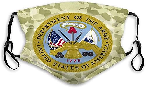 Hirola Escudo bucal transpirable reutilizable al aire libre águila América EE.UU. ejército soldado ilustración-us ejército