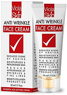 POWERFUL AgeDefying Face Cream with Matrixyl 3000 blend. Face Moisturiser Reduces Signs Of Ageing. Anti Aging Face Cream Can Be Used As A Day Cream or Night Cream. Over 500,000 Happy Customers. by Viola Skin