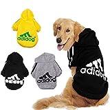 KayMayn, Adidog sport, Felpa con cappuccio per animali domestici, Per cani e gatti, Adatta anche ai cuccioli, Per cani di tutte le taglie (dalla S alla 9XL), 6 colori disponibili nero Nero  XXXXXXL