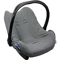 Original DOOKY BabyFit ** Funda universal para sistema de cinturón de 3 y 5 puntos ** Cochecito de bebé, silla de coche como, por ejemplo, para Maxi-Cosi, Cybex, etc. gris Gris oscuro