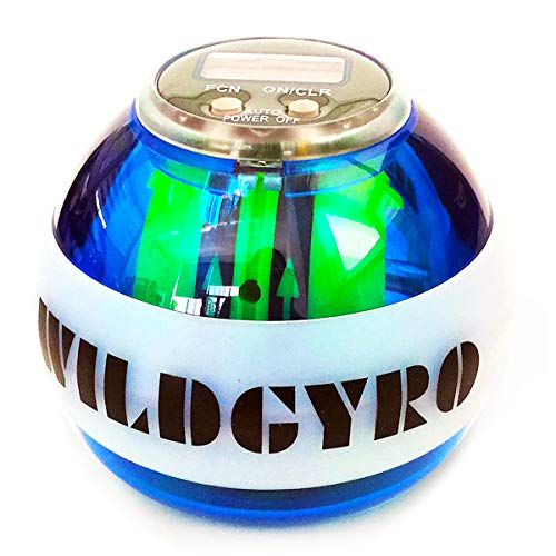 「2021最新版」スナップボール オートスタート LED発光 カウンター機能 手首 握力 腕力 筋力 強化用 ストラップと収納バッグ付き 4色 (ブルー)