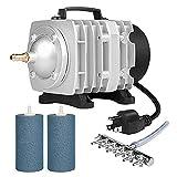 VIVOSUN 32W Powerful Air Pump with Air Stone Diffusers, Aeration Kits for Aquarium Pond and Fish Tank