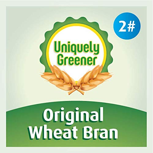 Uniquely Greener Wheat Bran (2 Pounds) — Non-GMO, All-Natural, Unprocessed Bran from Freshly Stone-Milled Wheat