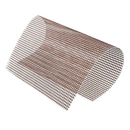 NEYOANN Parrilla de Barbacoa Estera de Malla - Conjunto de 5 Antiadherentes Reutilizables de Servicio Pesado 13X15.75 Pulgadas Resistente Calor-FáCil de Vidrio Recubierta de PTFE-Silicona