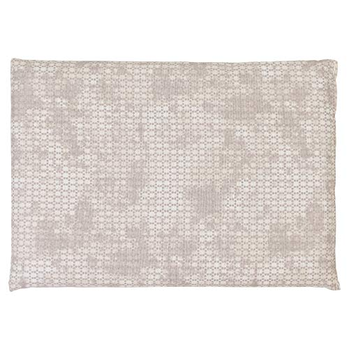 Kirschkernkissen 30 x 20 cm. Wärmekissen & Kältekissen. Körnerkissen für Mikrowelle und Backofen (Farbe: shabby-chic grau-beige, 30x20cm)