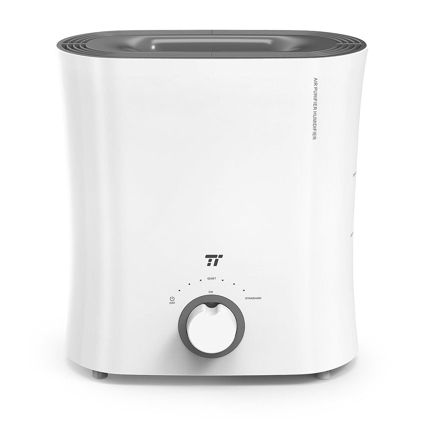 読書をするバルク待つ加湿器 TaoTronics 2.5L 気化式 空気清浄機 連続運転20時間 ミスト2つモード調節 静音 省エネ ウィッキングフィルターで抗菌 上から給水 5-12畳 オフィス 寝室 子供部屋 TT-AH017