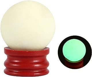 3535MM Decoration Ball with Base Luminous Stone Orb Glow in Dark Quartz Sphere for Desktop Table Decor