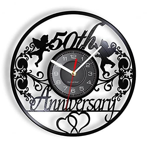 ZFANGY 50 ° Aniversario Corona de ángeles Vinilo Retro LP Registro Reloj...