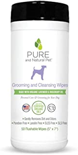 Pure and Natural Pet - Grooming and Cleansing Wipes Lavender and Rosemary 50 Wipes