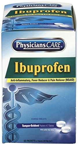 90015-002 - PhysiciansCare Ibuprofen Pain Reliever Medication, 200 mg - PhysiciansCare Ibuprofen Pain Reliever Medication, 200mg, First Aid Only - Box of 50