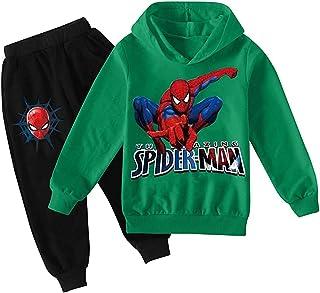 ZKDT Superhéroe Spiderman Fashion - Sudadera con capucha para niños y niñas
