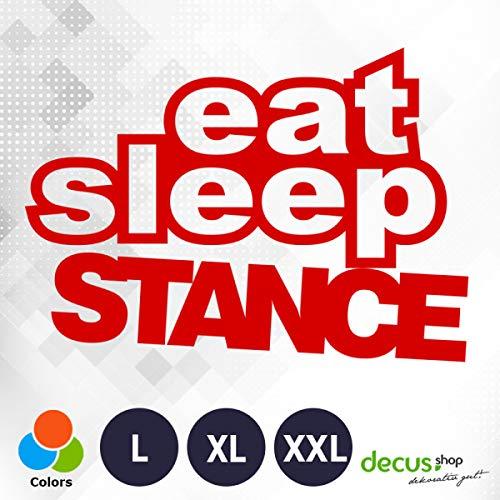 Decus Pegatina con Texto Eat Sleep Stance L 1758