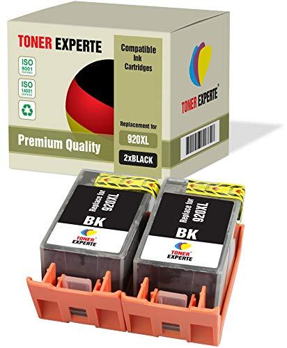 2 XL TONER EXPERTE® Druckerpatronen kompatibel für HP 920XL 920 XL CD975AE Officejet 6000, 6500, 6500A, 7000, 7500A (2 Schwarz)