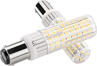 Ymm Bombilla LED B15D 7.5W LED Blanco Cálida 3000K Non-Dimmable Equivalente a Lámpara Halógena de 100W Doble Bayoneta B15D LED AC 90-265V Luz Para Máquina de Coser Lámparas (2 unidades)