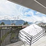 Lona Transparente Impermeable con Ojales, Lona resistente PVC...