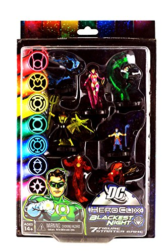NECA DC Heroclix Blackest Night 7 Figure Starter Game