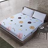 DSman Protector de colchón Acolchado - Microfibra - Transpirable Impresión de sábanas y Paquete Completo Cepillado-4_150X200 + 25cm