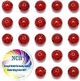 NCB Natural Stone Beads 100pcs 10mm Round...