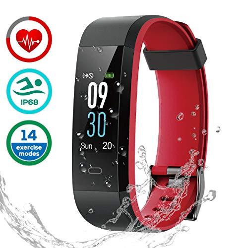 LATEC Fitness Tracker [Dernier Version], Écran Couleur Tracker d'activité Bracelet Smart IP68 étanche podomètre