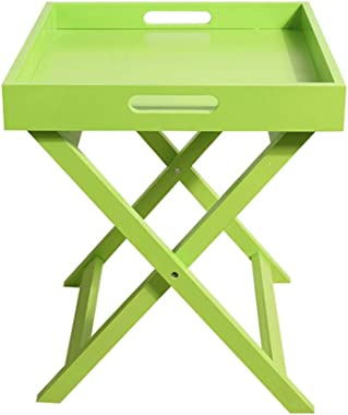 XIAOYAN End Table Sofa Side Table Mini Mobile Coffee Table Simple Tea Table Bedside Table Simple Modern Square Table Green Wh
