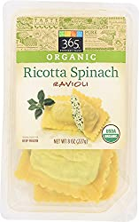 365 Everyday Value, Organic Ricotta Spinach Ravioli, 8 oz, (Frozen)
