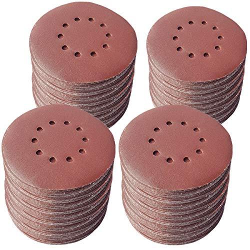 25 Stück KLETT Schleifscheiben Ø 225mm mit 10 Loch Korn P240 Schleifpapier Trockenbauschleifer Langhalsschleifer Exzenterschleifer BOHRFUX