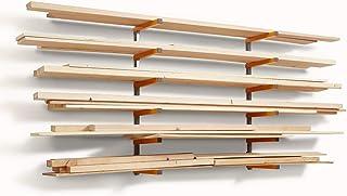 Bora Portamate PBR-001 Wood Organizer and Lumber Storage Metal Rack with 6-Level Wall..